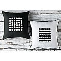 Buttons Decorative 18-inch Pillows (Set of 2)
