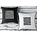 Buttons 18-inch Poly Decorative Pillows (Set of 2)
