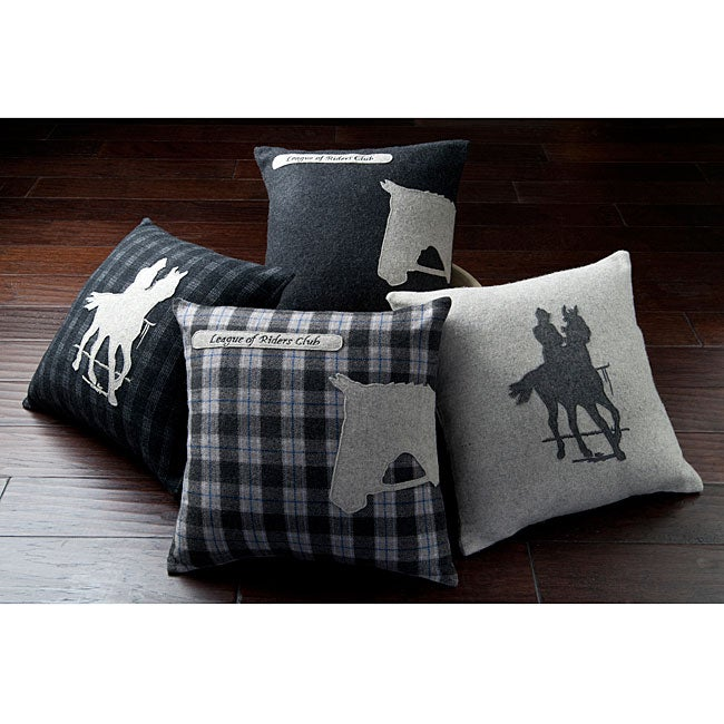 Horses 18-inch Down Decorative Pillows (Set of 4)