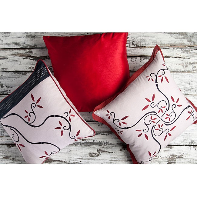 Vine 18-inch Square Decorative Pillows (Set of 3)