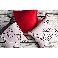 Vine 18-inch Square Decorative Pillows (Set of 3)