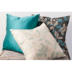 Leaves 18-inch Square Decorative Pillows (Set of 3)