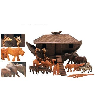 Fair Trade Hand Carved Noah's Ark Set (Kenya)