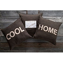 Cool Home 18-inch Square Decorative Pillows (Set of 3)