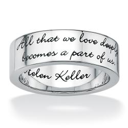 Toscana Stainless Steel Inspirational Message Band
