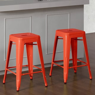 Tabouret Tangerine Metal 24-inch Counter Stools (Set of 2)