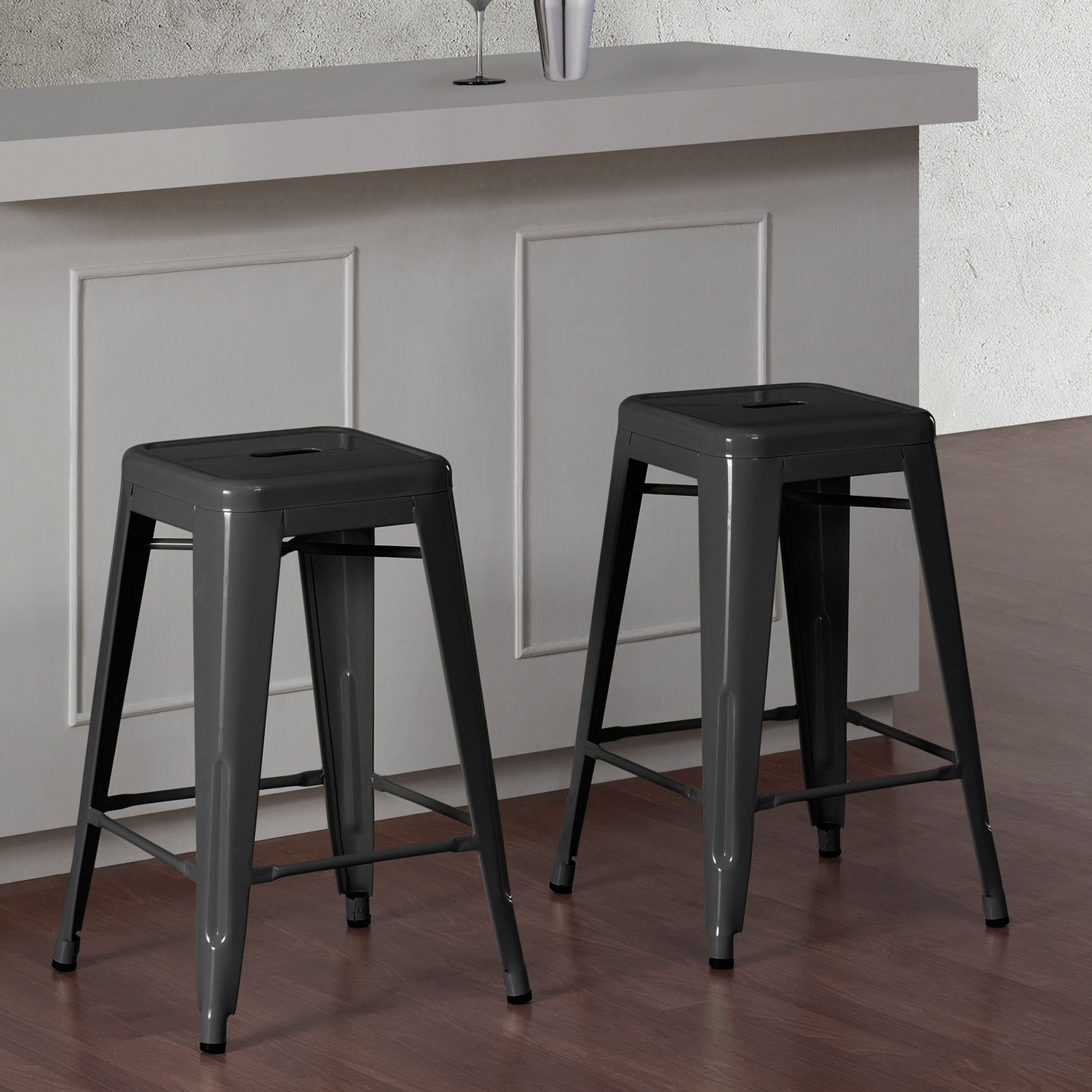 grey metal chairs images