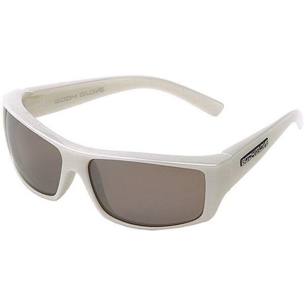 Body Glove 'Carmel' Men's White Mirrored Polarized Sunglasses