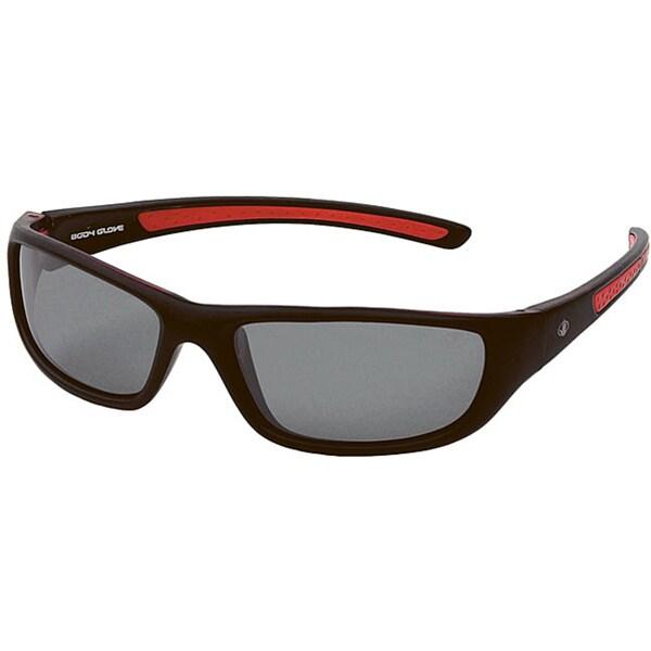 Body Glove 'Conchal A' Men's Black/Smoke Mirrored Polarized Sunglasses