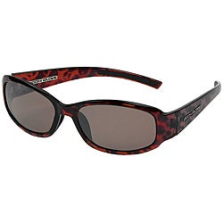 Body Glove 'Cabo' Women's Demi Brown/Silver Mirrored Polarized Sunglasses