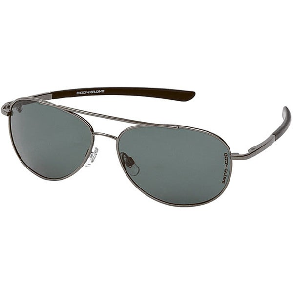 Body Glove 'Lauderdale' Men's Gunmetal/Smoke Polarized Sunglasses