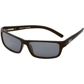 Body Glove 'Newport Beach A' Men's Black/Smoke Mirrored Polarized Sunglasses