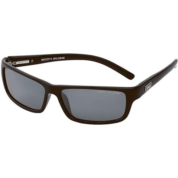 Body Glove 'Newport Beach A' Men's Black/Smoke Mirrored Polarized Sunglasses
