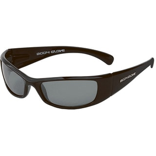 Body Glove 'Haya' Women's Metallic Black/Smoke Mirrored Polarized Sunglasses