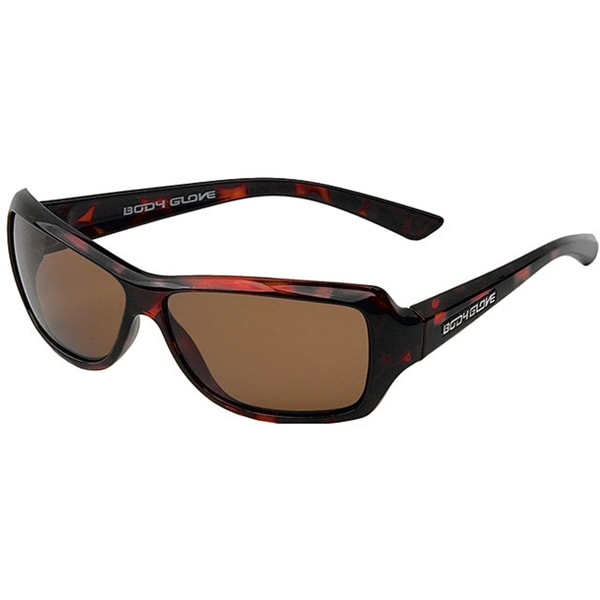 Body Glove 'Captiva' Women's Dark Demi/Brown Polarized Sunglasses
