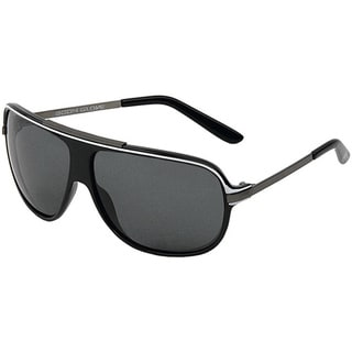 Body Glove 'Nauset Beach' Men's Shiny Black/Smoke Polarized Sunglasses