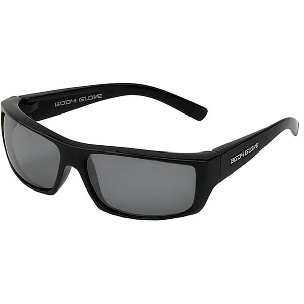 Body Glove 'Carmel 1' Men's Black/Smoke Polarized Mirrored Sunglasses