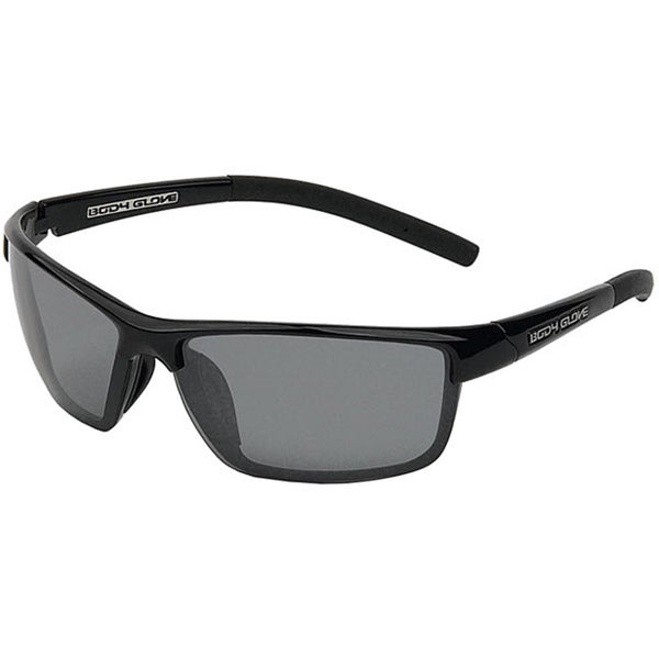 Body Glove 'Brighton' Men's Black/Smoke Polarized Mirrored Sunglasses