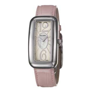 Milleret Women's 'Gala' Stainless Steel Pink Leather Watch