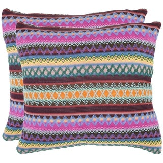 Safavieh Fantasia Brown 18-inch Decorative Pillows (Set of 2)