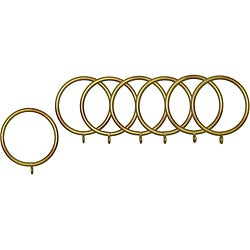 Historical Gold Fixed Metal Grommet Rings (Set of 7)