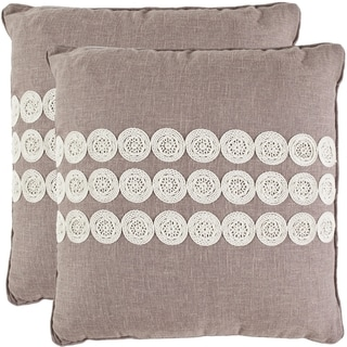 Journey 18-inch Taupe Decorative Pillows (Set of 2)