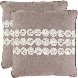 Safavieh Journey 20-inch Taupe Decorative Pillows (Set of 2)