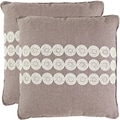 Journey 22-inch Taupe Decorative Pillows (Set of 2)