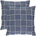 Denim Blue 18-inch Decorative Pillows (Set of 2)