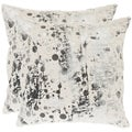 Cosmos 18-inch White Decorative Pillows (Set of 2)