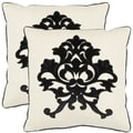 Safavieh Crest 18-inch Beige Decorative Pillows (Set of 2)