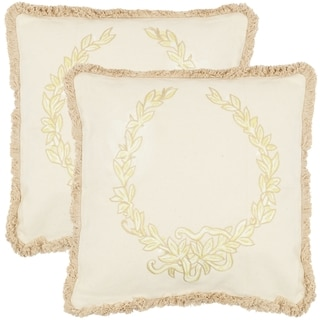 Safavieh Rome 18-inch Wheat Decorative Pillows (Set of 2)