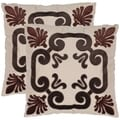 Charm 18-inch Beige Decorative Pillows (Set of 2)