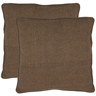 Solid 18-inch Brown Decorative Pillows (Set of 2)