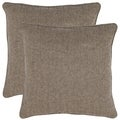 Solid 18-inch Grey Decorative Pillows (Set of 2)