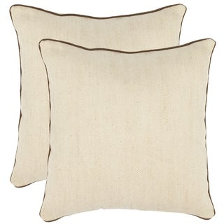 Safavieh Simplicity 18-inch Wheat Decorative Pillows (Set of 2)