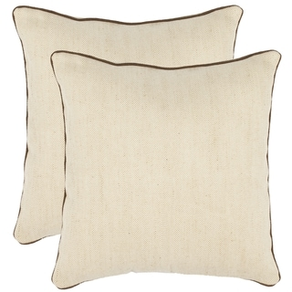 Simplicity 18-inch Wheat Decorative Pillows (Set of 2)