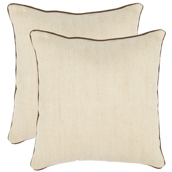 Safavieh Simplicity 18-inch Wheat Decorative Pillows (Set of 2)