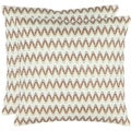 Zig-Zag 18-inch Cream Decorative Pillows (Set of 2)