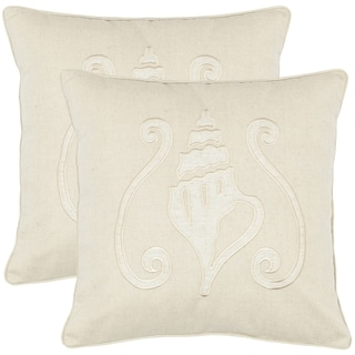 Beaches 18-inch Cream Decorative Pillows (Set of 2)