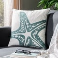 Safavieh Starfish 18-inch White Decorative Pillows (Set of 2)