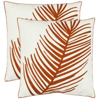 Fern 18-inch White Decorative Pillows (Set of 2)