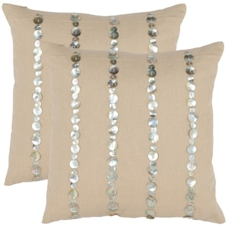 Awe 18-inch Almond Decorative Pillows (Set of 2)