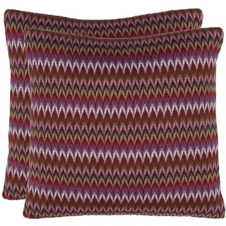 Zigs 18-inch Raspberry Red Decorative Pillows (Set of 2)