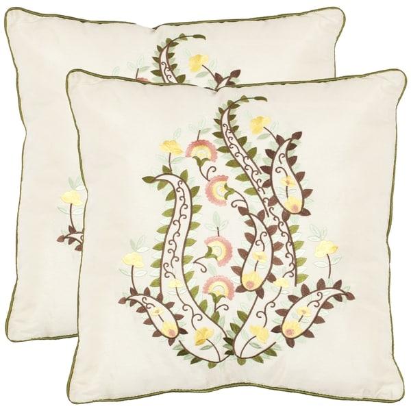 Safavieh Paisley 18-inch Ceram Decorative Pillows (Set of 2)