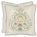 Safavieh Love Birds 18-inch Cream Decorative Pillows (Set of 2)