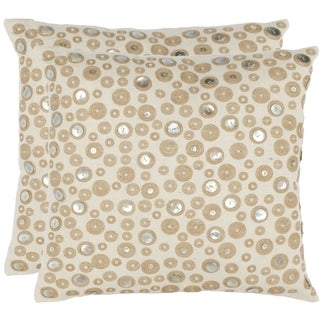 Safavieh Star Skies 18-inch Cream Decorative Pillows (Set of 2)