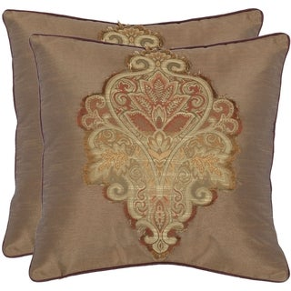 Regal 18-inch Tan Decorative Pillows (Set of 2)