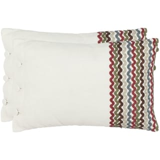 Zags 13-inch x 19-inch White Decorative Pillows (Set of 2)