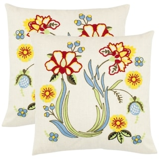 Victoria 18-inch Cream Decorative Pillows (Set of 2)